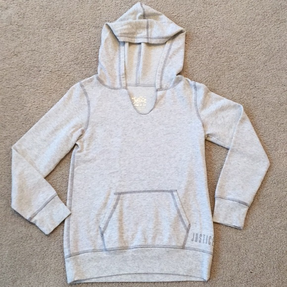 Justice Other - Girls Grey Hoodie